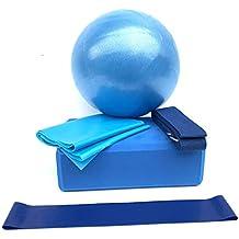 Fansport Set Yoga Blocco di Yoga della Cinghia di Yoga della Palla di Yoga Elastica Multiuso