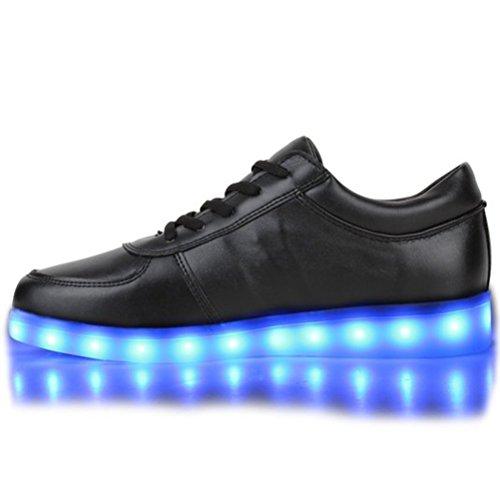 [Present:kleines Handtuch]JUNGLEST® Blinkende Damen Sneakers Led Light Far Schwarz