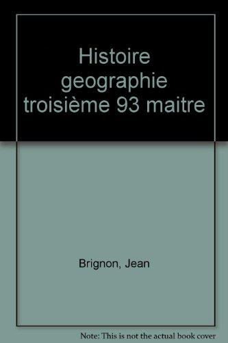 HISTOIRE GEOGRAPHIE 3EME INITIATION ECONOMIQUE. Livre du professeur par Jean Brignon, Collectif, Robert Pouliquen