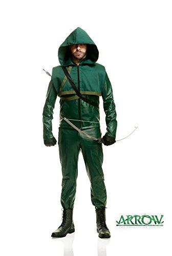 Charades Men's Premium Arrow Fancy Dress Costume - Green Arrow Kostüm