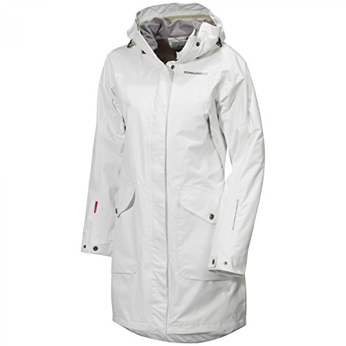 Didriksons Womens Thelma Waterproof Coat RRP £170 Beige - Kaki