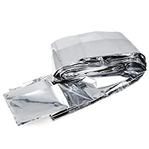 41P1JggKC6L. SS300  - outdoortips 10 Pack Emergency Survival First Aid Foil Space Set Hiking Campling blanket