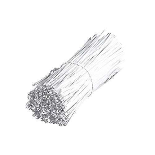 Demino 1000PCS / Set Schwarz PVC beschichtet Haushalt Outdoor-Metall-Kabel-Daten-Kabel-Organisator Bindung Taschen Verpackung Draht Twist Krawatten