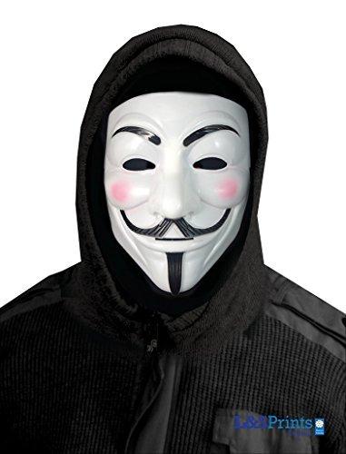 Halloween Weiß Face Design Novelty Fun Stoff Face Maske Neckwarmer hergestellt in - Scary Halloween-werwolf