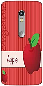 Snoogg Bright Organic Red Apple Card In Vector Format Designer Protective Bac...