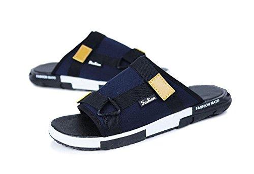 GLTER Scarpe da ballo traspirante degli uomini Pattini casuali della spiaggia delle nuove pantofole di estate full blue