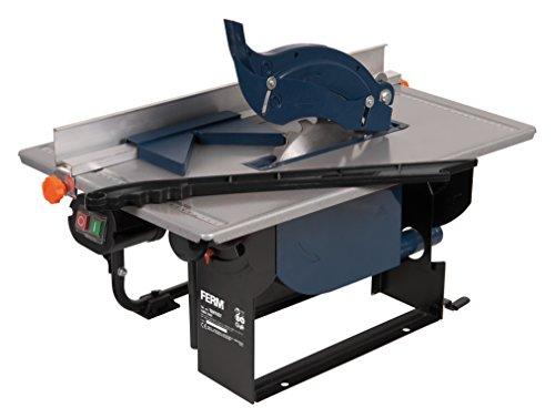 FERM Tischkreissäge 800 Watt - 200mm - Winkelanschlag und Parallelführung - Vakuum-Adapter - Mit T24 (TCT) Sägeblatt
