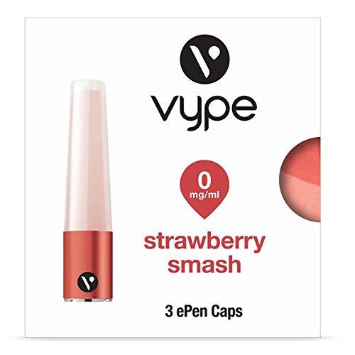 Vype ePen Caps Strawberry Smash 3er Pack | e-Liquid | ohne Nikotin