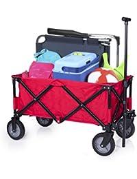 Campart Travel  - Carrito plegable, color rojo