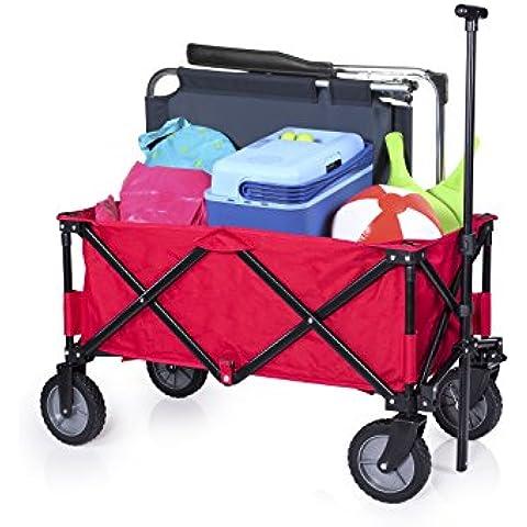 CAMPART Travel HC-0911 - Carrito plegable, color rojo
