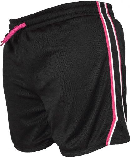 Urban Classics Ladies Mesh Shorts Fuchsia/Black/Wh black/fuchsia/white
