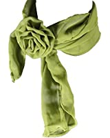 Halstuck oder Shal mit Blumen Haar-Clip - Lindgrün