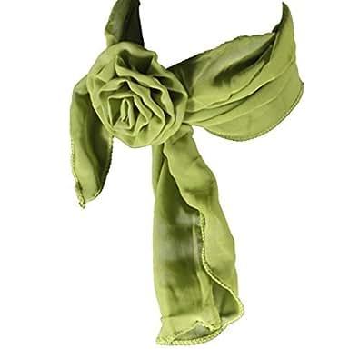 Foulard ou bandeau avec un clip rose, vert