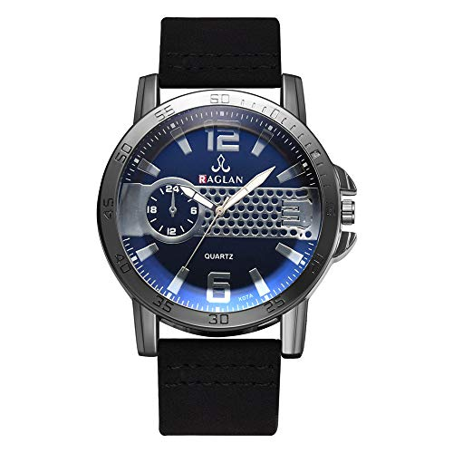 YULINGSTYLE Klassische Uhr Fashion Men Quartz Watch Leather Clock Blu Ray Glass WristwatchGünstige und billige Uhren - Stilvolle Blu-ray