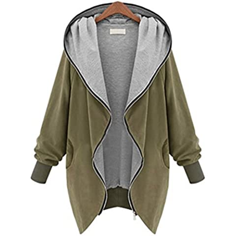 Xinantime Basic Cappotto Manica Lunga Trench Coat Donna