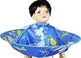 AIYANG Parapluie cheveux cape de coupe Cape Enfants de coupe de cheveux cap - parapluie salon de coiffure coiffure pour la famille (dauphin bleu)...