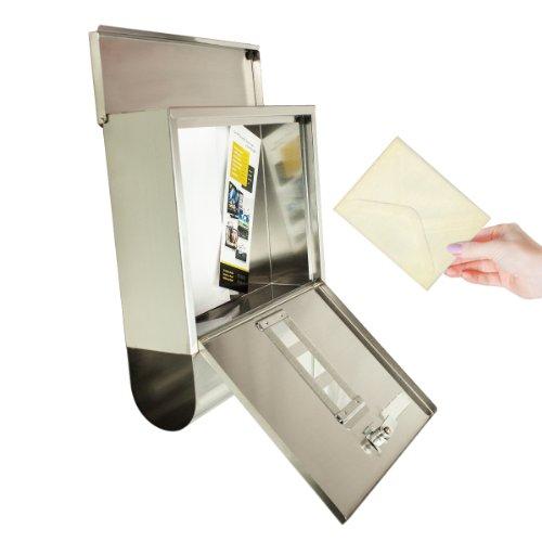 TÄGA 2210 Design Briefkasten Edelstahl mit Zeitungsfach - 4