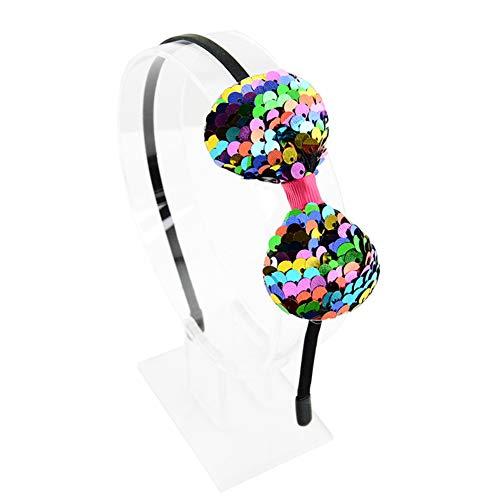 t Bow Sequin für Kinder Mädchen Haarreifen Sequin Schleife Haarband Haarbänder Haargummis Haarschmuck Haarreif für Party Dekoration(bunt) ()