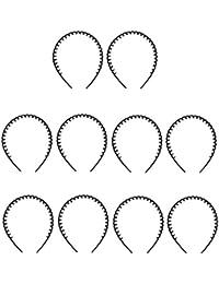 MagiDeal 10pcs Serre-tête Bandeau Peigne à Cheveux pour Femmes Hommes Accession Cheveux