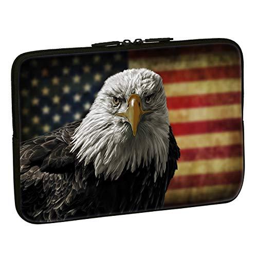 PEDEA Design Schutzhülle Notebook Tasche bis 17,3 Zoll (43,9cm), American Eagle -