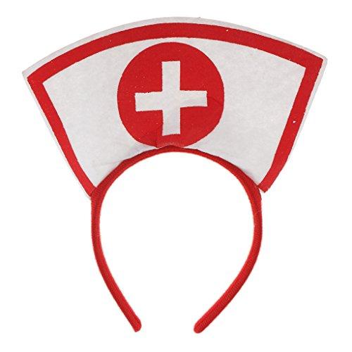 Blesiya Krankenschwester Arzt Stirnband Mädchen Frau Kostüm Kostüm Hen Party Zubehör (Arzt Frau Kostüm)