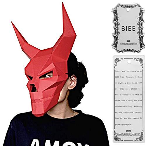 aske Tierkopf Formen Halloween Party Kostüm Cosplay Gesichts Papier-Craft Kit ()