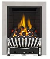 Eastleigh Full Depth Radiant Gas Fire - Chrome/Black-P