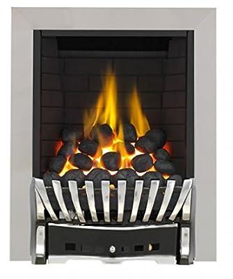 Eastleigh Full Depth Radiant Gas Fire - Chrome/Black-P