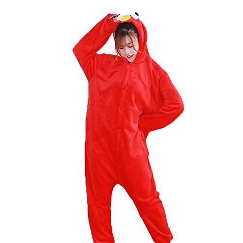 Christmas Cookie Kostüm - DUKUNKUN Erwachsene Pyjamas Cartoon/Cookie Anime Pyjamas Kostüm Flanell Stoff Rot/Blau Cosplay Für Tier Nachtwäsche Cartoon Halloween Festival/Urlaub/Weihnachten,L