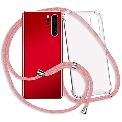 mtb More Energy® Collar Smartphone para Xiaomi Mi MAX 3 (6.9'') - Rosa - Funda Protectora ponible - Carcasa Anti Shock con Cuerda