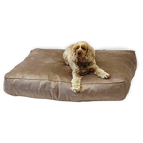 Lit pour chien de luxe, imitation daim Chocolat 17,8 cm profond, Royaume-Uni fabricant