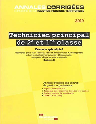 Technicien principal de 2e et 1re classe : Examens spécialités I