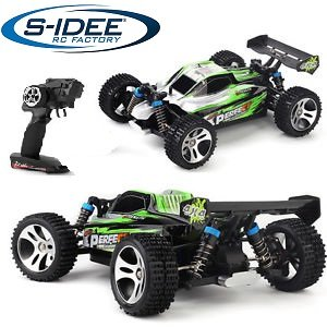 s-idee® 18130 A959-A RC Auto Buggy Monstertruck 1:18 mit 2,4 GHz 35 km/h schnell, wendig, voll digital proportional 4x4 Allrad WL Toys ferngesteuertes Buggy Racing Auto*