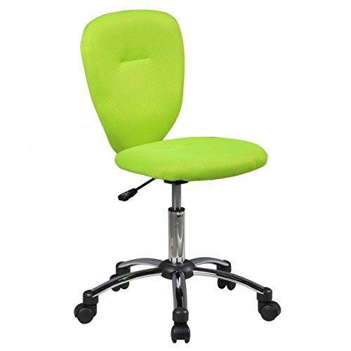 Amstyle Kinder-Schreibtischstuhl ANNA für Kinder ab 6 mit Lehne Weichboden-Rollen Kinder-Drehstuhl Kinder-Bürostuhl ergonomisch höhenverstellbar Jugendstuhl für Mädchen Jungen Grün Kinderzimmerstuhl