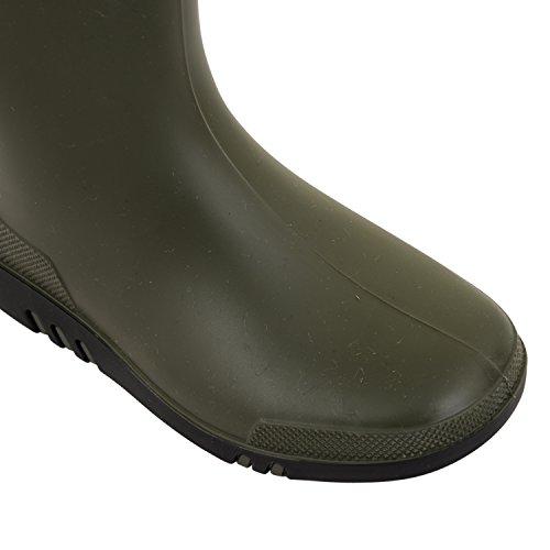 Jungen Mädchen Dunlop Wellington Snow Stiefel Gummistiefel Gummi Länge Knöchel Schuhe Größen UK Grün / Schwarz