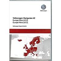 Volkswagen 3AA051866BE - Tarjeta SD Original de VW V12 Europa West RNS 315 Sistema de navegación Navi Software Actualización, sólo para Plataforma AZ