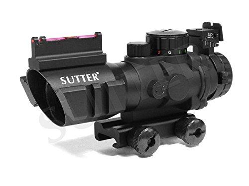 Reflex-Zielvisier 4x32mm mit Fiberoptic (Red-Dot/Green-Dot Scope) - Anschluss: 11mm - Inkl. 19mm Adapter -