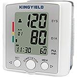 Kingyield BP309 - Handgelenk Blutdruckmeßgerät mit Arrhythmie (IHB) Anzeige Puls Erkennung LCD Display Datum Uhrzeit WHO Ampelfarbskala 1*60 Speicherwerte Herzfrequenz Technologie 3. Generation Farbe weiß