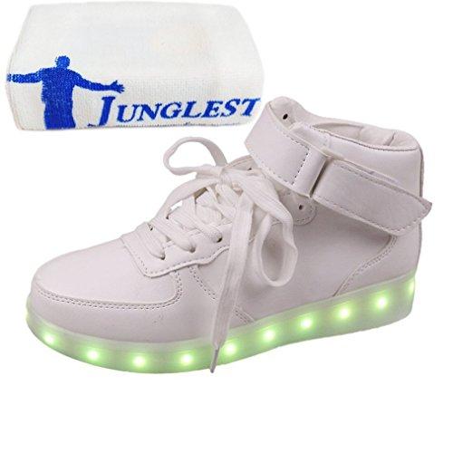7 Handtuch present Schwarz Unisex junglest® Farbe Schädel Blink kleines C39 beleuchtung Led RwwgqX