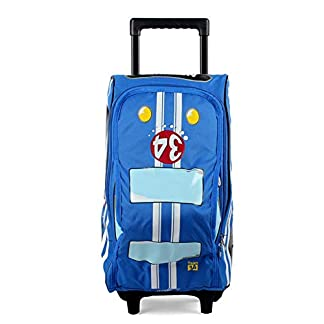 beibao shop Trolley Bags Modelo 3D Gran Capacidad Bolsos de la Carretilla, Poliéster Transpirable Carga Estudiante El Hombro Mochila Escolar