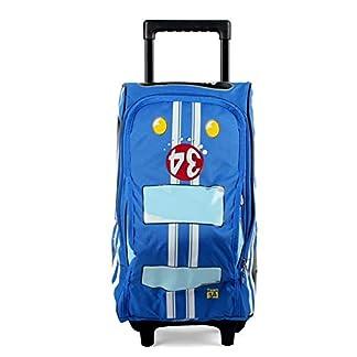 41P1VY%2BFERL. SS324  - beibao shop Trolley Bags Modelo 3D Gran Capacidad Bolsos de la Carretilla, Poliéster Transpirable Carga Estudiante El Hombro Mochila Escolar