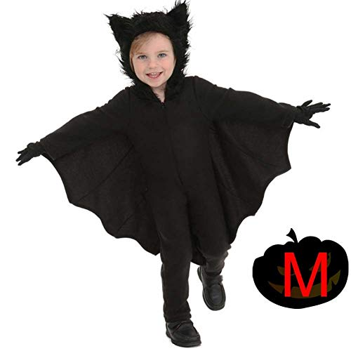gaeruite Halloween Fledermäuse Kostüme für Familie, Kind, Mama, Papa, Fledermaus Jumpsuit Black Bat Wings Cosplay Kostüme (Kind-halloween-kostüme Mama, Papa Und)