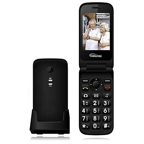 YINGTAI T21 3G Seniorenhandy KlappHandy mit Großen Tasten