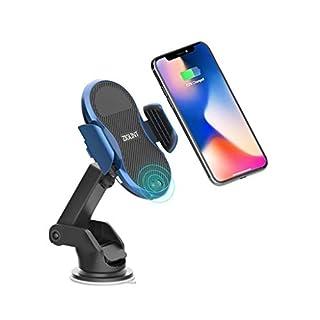 ZIGLINT Wireless Car Charger Qi Auto Kabelloses Ladegerät, 10W / 7.5W / 5W Schnellladung, Automatische Infrarot mit Air Vent & Halterung Handyhalter für iPhone X / 8/8 Plus, Samsung Galaxy S9 / S9
