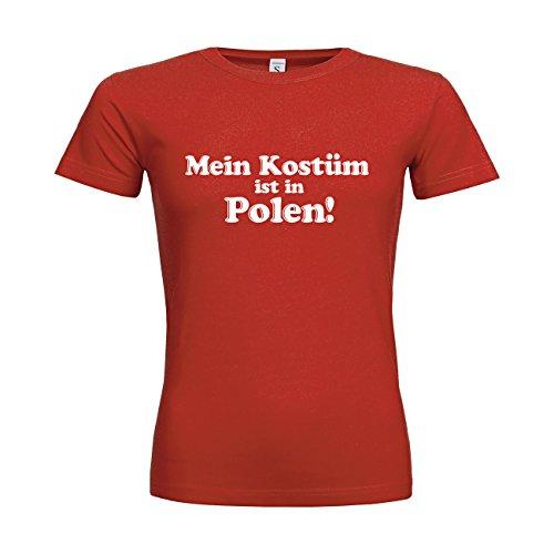 dress-puntos Sonderangebot Restposten Woman T-Shirt Mein Kostüm ist in Polen sldrpt15-w00374-456 Textil red / Motiv weiss / Gr. XXL (Polen Weihnachten Kostüme)