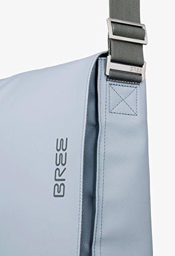 BREE, Borsa a spalla uomo Blu skydriver-hellblau 38 cm x 28 cm x 8 cm (B x H x T) skydriver-hellblau
