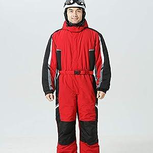 One-Piece Skianzug Männer, wasserdichte Padded Snowboard-Jacke Ski-Overall Außen Snow Mountain Ski Anzug Winter Warm