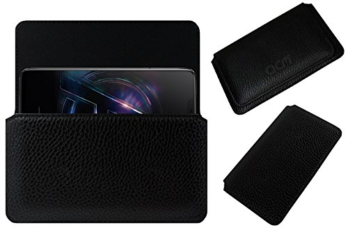 ACM Horizontal Case for Oneplus 6 Avengers Limited Edition Mobile Leather Cover Pouch Black