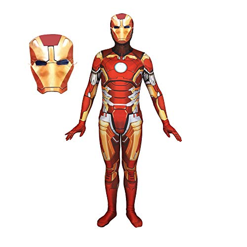 Red Kinder Kostüm Hulk - ERTSDFXA Iron Man Cosplay Kostüm Erwachsener Costume Unisex Halloween Weihnachten Party Verkleidung Bodysuit,Red-S(Height60-63Inch)