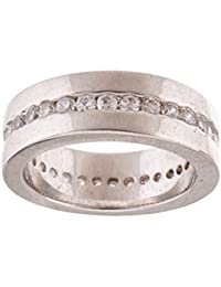 Colors Couture Silver Gold Plated Ring For Women - Size: 8.0 (R01_7)